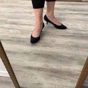 Impo stretch fabric kitten heels